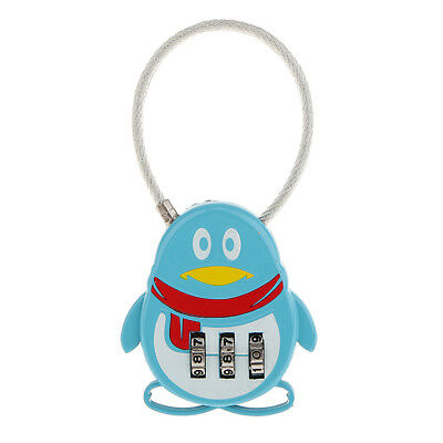 Blue Penguin 3 Dial Combination Passwords Secure Padlock Luggage Safety Lock