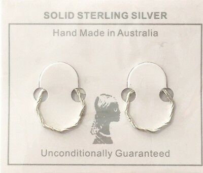 SALE!- Sterling Silver All Day Octagonal Twist Sleepers ADOT RRP $19.95