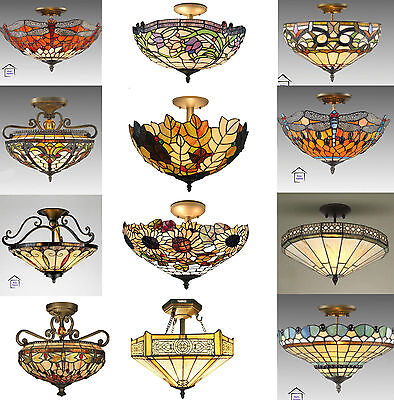 Tiffany Style Stained Ceiling Light / Lamp-Various Design ( Stunning Quality )