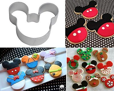 Mickey Minnie Mouse Head Biscuit Cookie Mold Cutter Cutting Metal Party Shape
