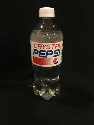 CRYSTAL PEPSI 20oz Collectors Bottle Rare SOLD OUT Pepsi Cola Company