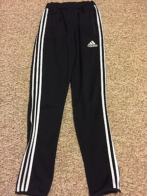 Adidas Climacool Youth Size XL Black Training Pants Zip Pockets