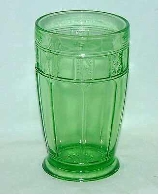 """Jeannette DORIC GREEN *5"""" -12 oz FOOTED ICED TEA TUMBLER*"""
