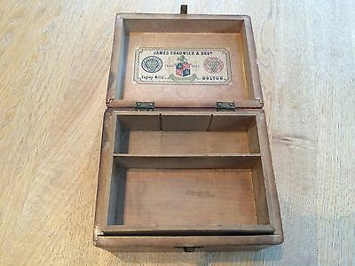Antique Wooden Sewing Thread Box - James Chadwick & Bro.