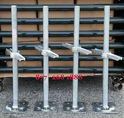 "CBM Scaffold 4 New Scaffolding 24"" Galvanized Screw Jack w/Base Plate"