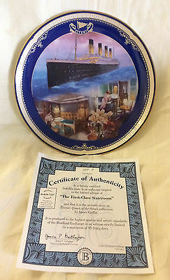 """Bradford Exchange - Titanic : Queen of the Ocean - """"First Class State"""" 8"""" Plate"""