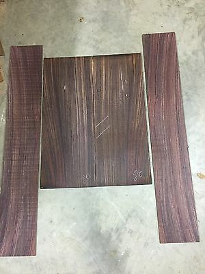 3 Indian Rosewood Guitar Back And Side Sets