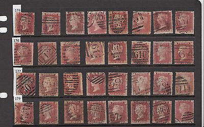70% Discount Sg43/44 Plate 176 - Queen Victoria Individual Stamps