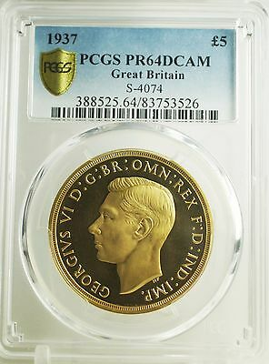 Great Britain 1937 Proof Set - PCGS Graded PF64-63 - All coins Deep Cameo