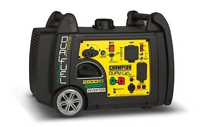 100204 - 2800W/3100W Champion Dual Fuel Inverter Generator - Refurbished