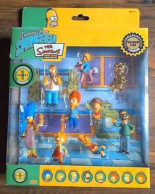 THE SIMPSONS Set 9 Figuren Box Evergreen Terrace Series LIMITED EDITION - OVP !
