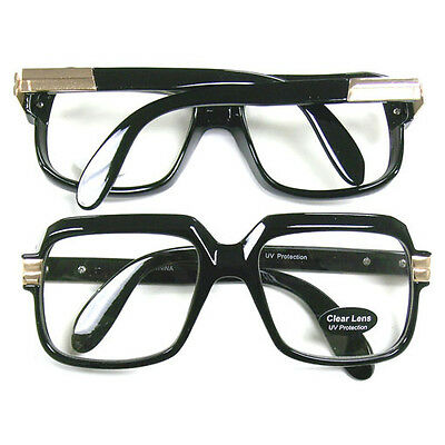 Oversized Black Hip Hop Glasses Rapper Run DMC Gazelle Rap Cazal 80's Metal