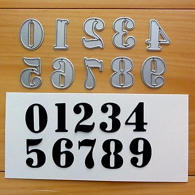 Shopaperartz NUMBERS NUMERAL DIGIT BIRTHDAY CUTTING DIES FITS SIZZIX CUTTLEBUG