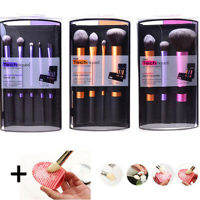 Real Techniques Makeup Brushes 3 sets Core Collection/Starter Travel Essentials