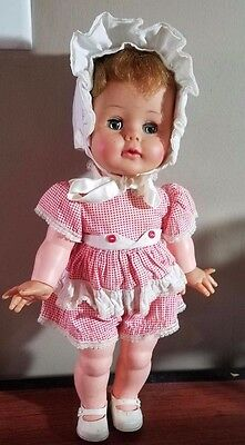 "Vintage 1960's Ideal Kissy Doll 16""- makes kissing noise!"