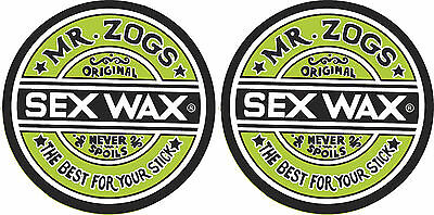 Sex Wax Mr Zogs 2 x Vinyl Cut Sticker