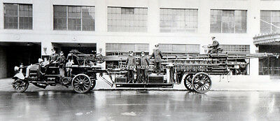 Toledo Ohio - First Aerial Ladder Fire Truck - American Lafrance Seagrave Photo