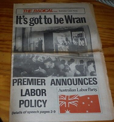 The Radical Australian Labor Party newspaper Sept 1981 ( magazine ) Wran