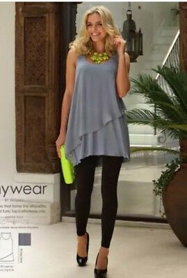 NWT ~ INTIMO grey loose double layered Anywhere Tunic top ~ Size 22