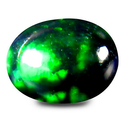 0.84 ct TOP MOST STUNNING GEM !! RAINBOW FLASHY 100% NATURAL  BLACK OPAL
