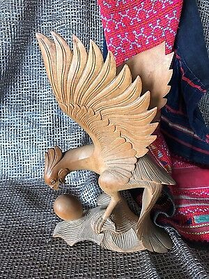 Old Carved Wooden Eagle and Egg …beautiful collection piece