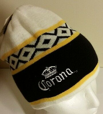 Corona Extra Beer Beanie Style Toque Hat Mexico Tags