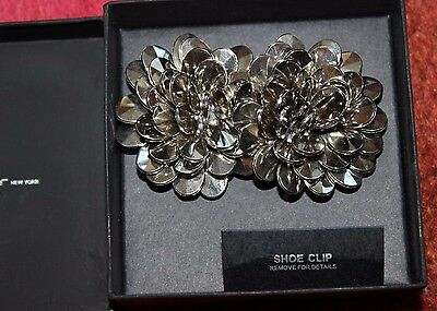 New In Box, Beautiful Kenneth Cole Shoe Clips, Silver, Rare