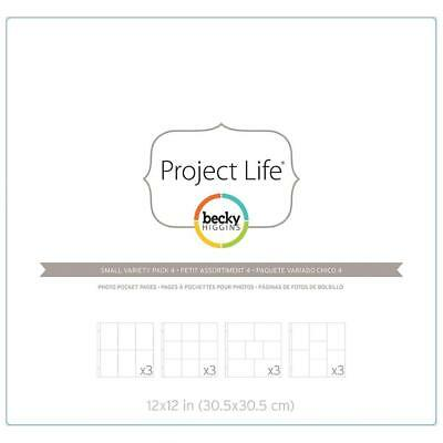 Project Life - Photo Pocket Pages 12/Pkg - Small Variety Pack 4
