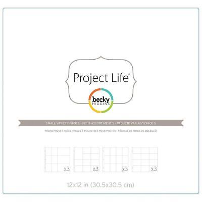 Project Life - Photo Pocket Pages 12/Pkg - Small Variety Pack 5