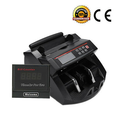 Currency Counter Cash  Bank Note Counting Machine Fake Detector Pound Money