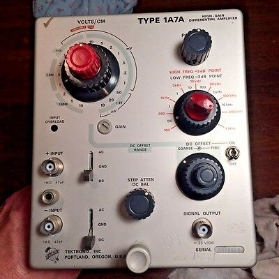 Tektronix Type 1A7A High Gain Differential Amplifier