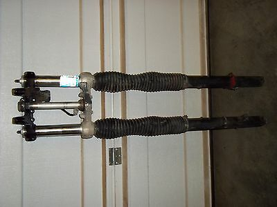 Honda XR650l front forks with triple clamp and ignition switch