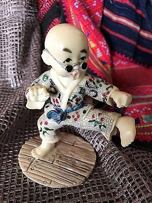 Old Kung Fu Panda Figurine in Engraved Risen …beautiful collection piece