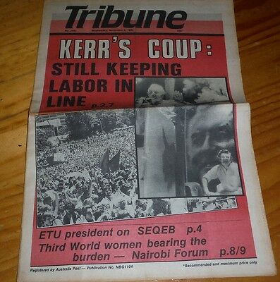 Tribune Australian Communist Weekly Newspaper Nov 1985 socialist labor political