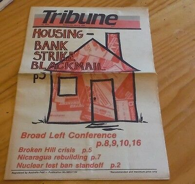 Tribune Australian Communist Weekly Newspaper April 1986 labor political liberal