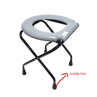 New Lightweight Folding Commode Chair Potty Chair Portable toilet Disability Aid