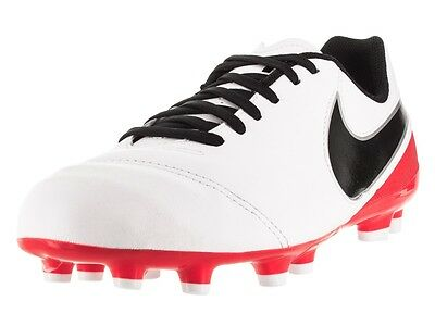 NEW! Jr Tiempo Legend VI FG Firm Ground Soccer Cleats Red/White/Black Size 1Y
