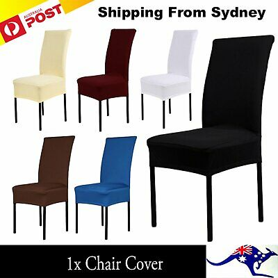 1x Stretch Chair Cover Seat Covers Spandex Lycra Washable Banquet Wedding Party