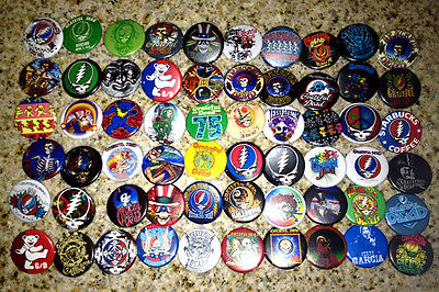 """Lot of 60 GRATEFUL DEAD collectible buttons/pinbacks/badges jerry garcia 1.25"""""""
