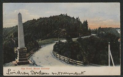 k2322)   EARLY  POSTCARD BAY ROAD MOUNT GAMBIER  S.A.    (A/F SOLD AS FOUND)