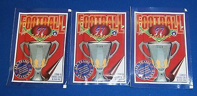 1997 Select Unopen X 3 Packets AFL Football stickers 6 sticker 1 Card per pack
