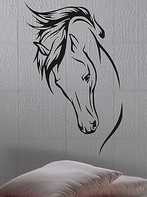 Horse Profile Wall Sticker Mural Home Decal Room Vinyl Window Room Decor Logo