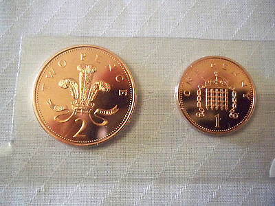 1993 2 Pence And 1 Pence Coin