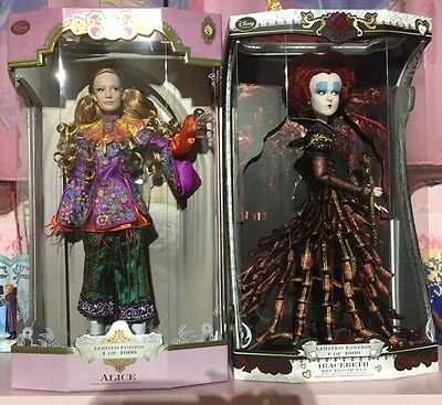 """Disney Alice Through The Looking Glass Limited Edition 17"""" Doll Alice Red Queen"""