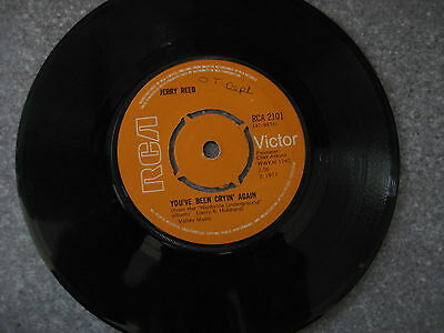 Vinyl Record 45 RCA Victor 1971- RCA21- You've been Cryin Again- Jerry Reed