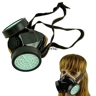 Respirator Gas Mask Safety Anti-Dust Chemical Paint Spray Dual Twin Cartridge GD