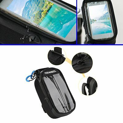 W#ROSWHEEL Bicycle Bag Frame Pack Riding Equipment Front Tube Bag For CellPhone&