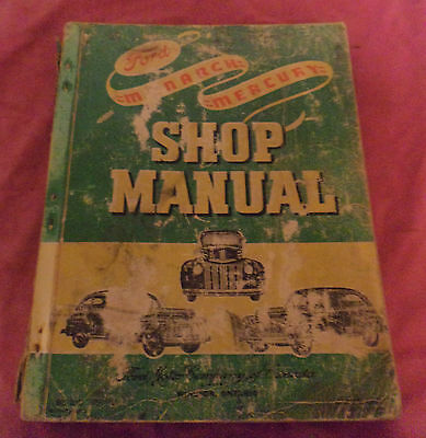 1946 Ford Monarch & Mercury Workshop Manual
