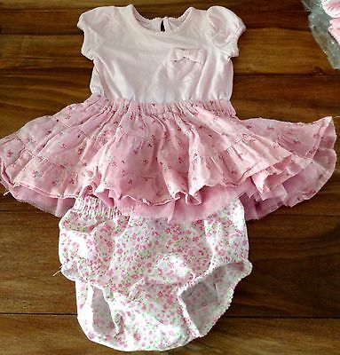 Baby girls Matalan dress, with knickers, age 3-6 months.