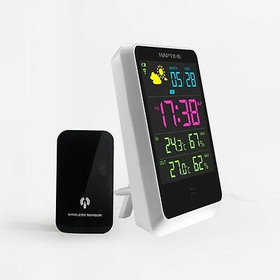 Weather Humidity Station Meter Digital Alarm Clock LED Display Screen Date Time